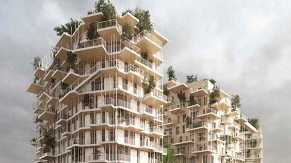 """50 méter magas, fából készült """"oázis"""" Bordeaux-ban"""
