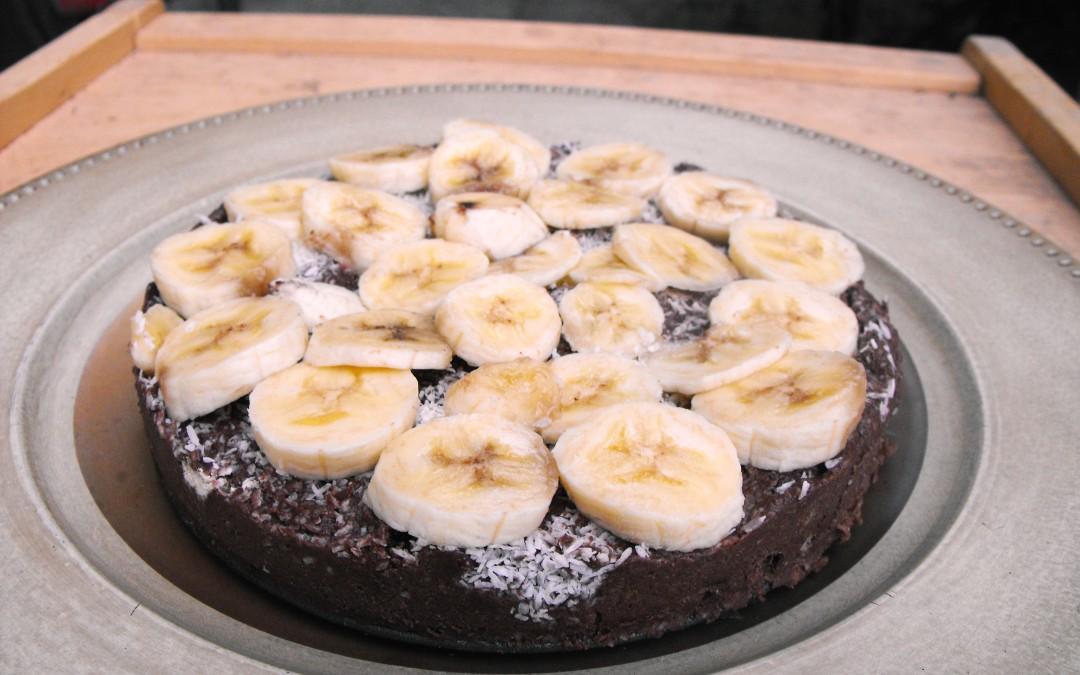 Nyers gesztenye-banán torta